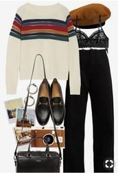 shoes,sweater,vintage pullover,rainbow,vintage,retro,cute