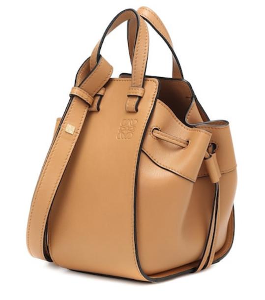 Loewe Hammock Mini leather crossbody bag in beige