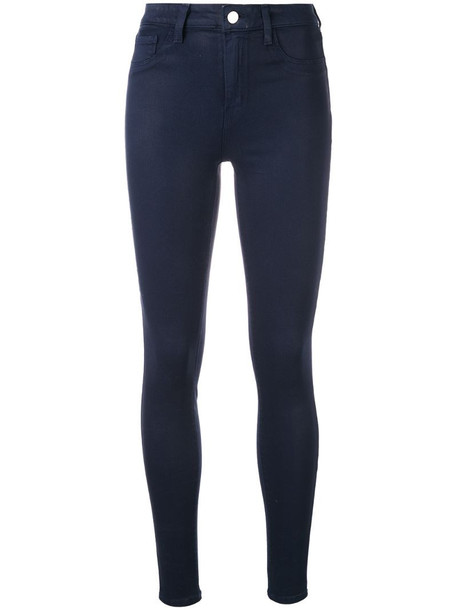 L'Agence marguerite coated jeans in black