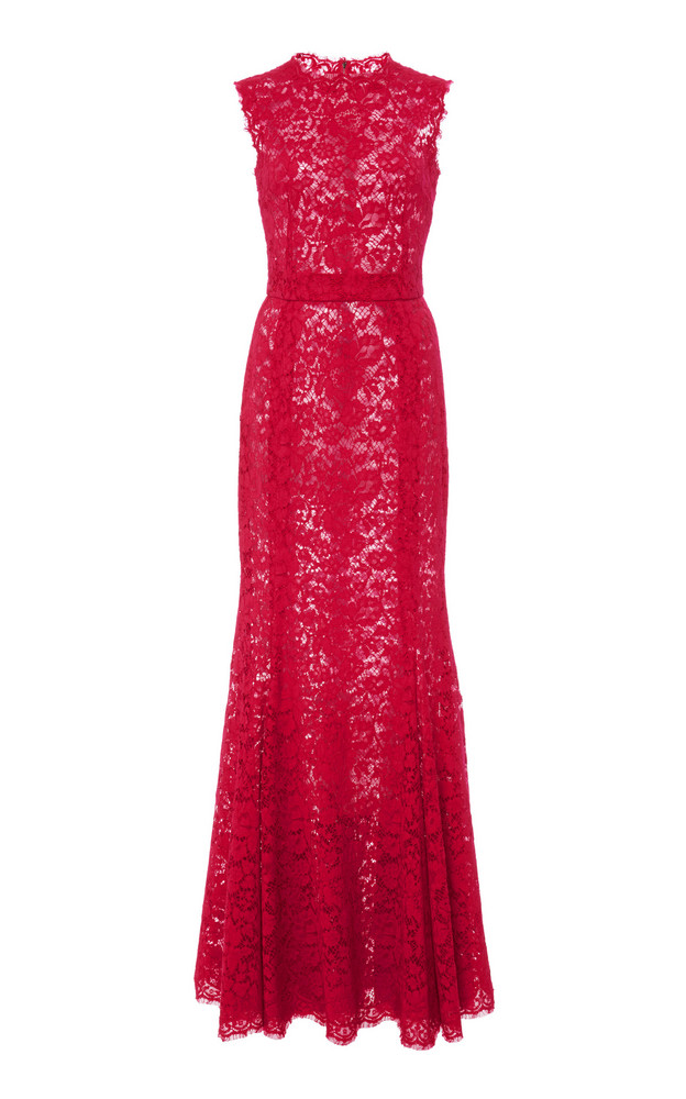 Dolce & Gabbana Sleeveless Lace Gown in pink