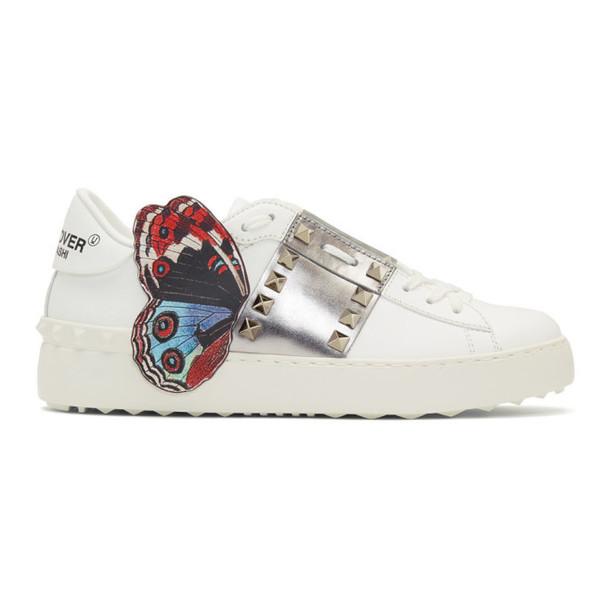 Valentino White Undercover Edition Valentino Garavani Open Rockstud Sneakers