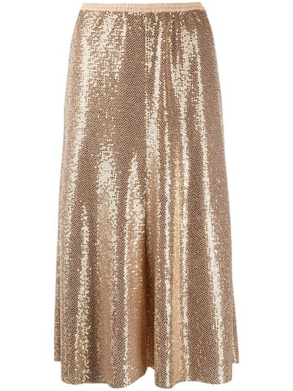 Forte Forte metallic-tone midi skirt in gold
