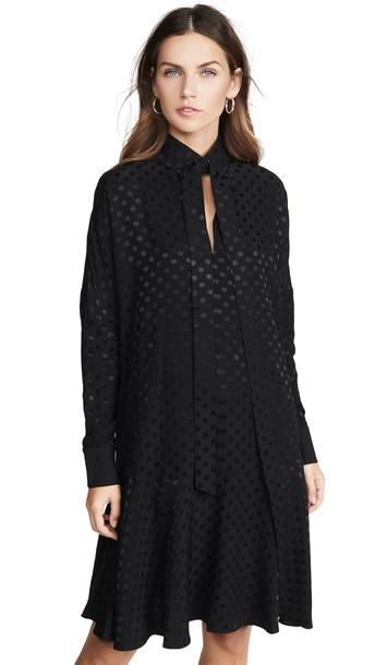 Tibi Dolman Dress in black
