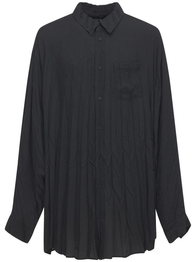 BALENCIAGA Technical Crepe Shirt in black