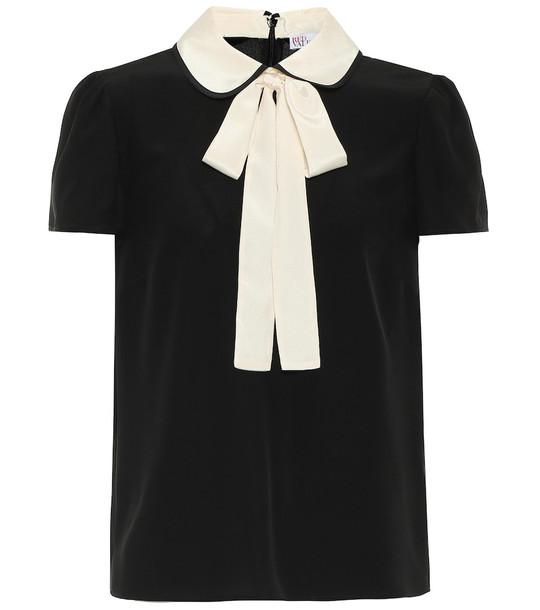 REDValentino Stretch-crêpe blouse in black