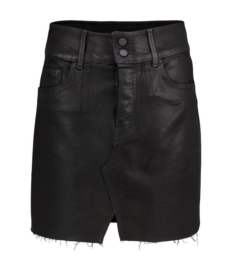 Grlfrnd Evie high-rise denim miniskirt in black