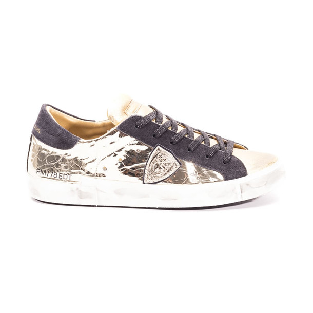Philippe Model Leather Sneakers in gold