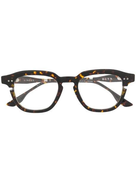 Dita Eyewear Lineus tortoiseshell-effect sunglasses in brown