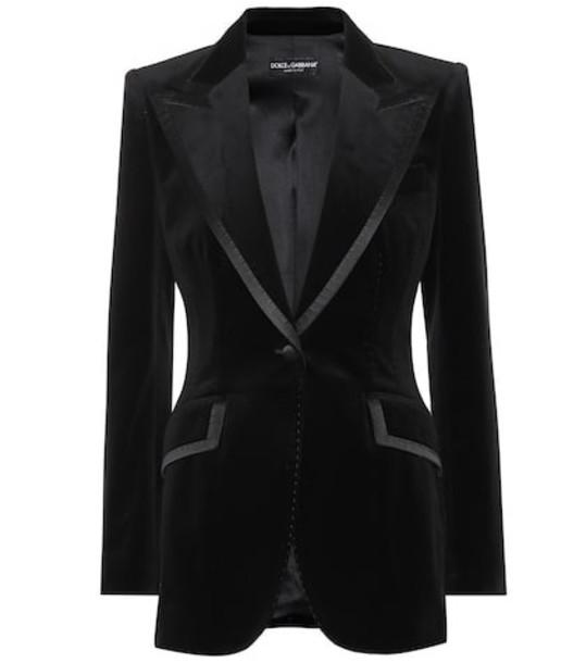 Dolce & Gabbana Velvet blazer in black
