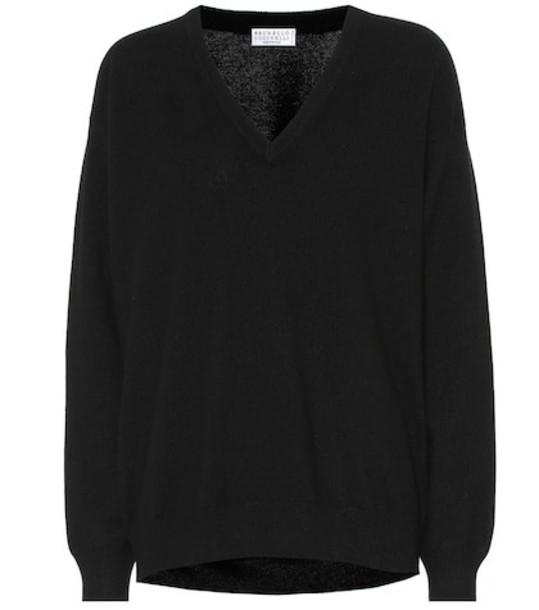 Brunello Cucinelli Cashmere sweater in black