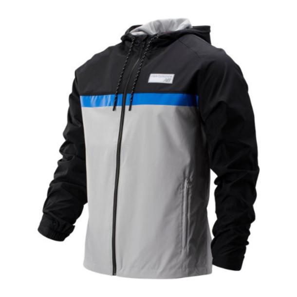 New Balance 73557 Men's NB Athletics 78 Jacket - Grey/Black/Blue (MJ73557SFO)