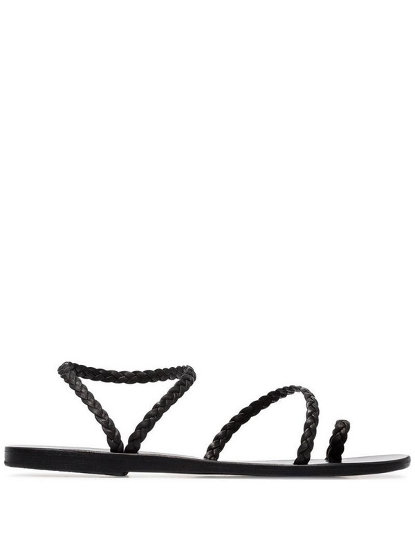 Ancient Greek Sandals Elefteria braided sandals in black
