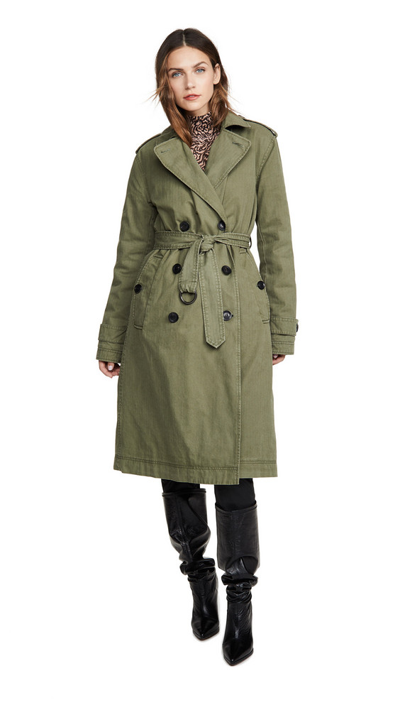 Marissa Webb Raleigh Trench Coat in green