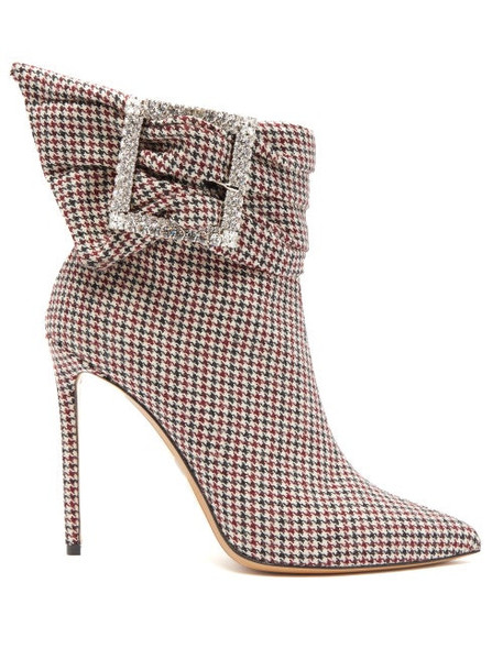 Alexandre Vauthier - Yasmine Crystal Embellished Houndstooth Boots - Womens - Multi
