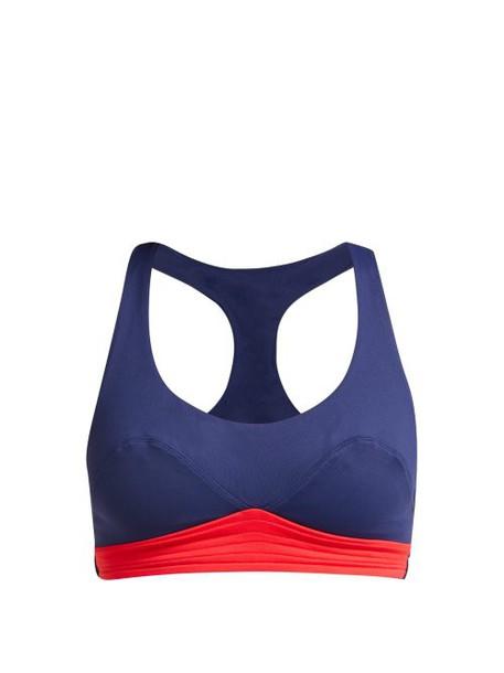 Ernest Leoty - Diane Stretch Jersey Performance Sports Bra - Womens - Red Multi