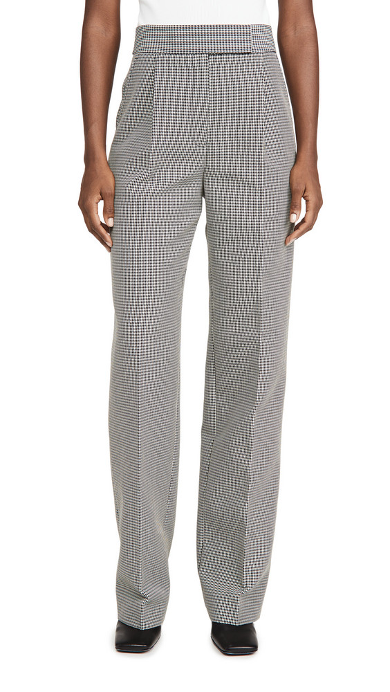 Alexander Wang High Waisted Pleated Pants in black / white