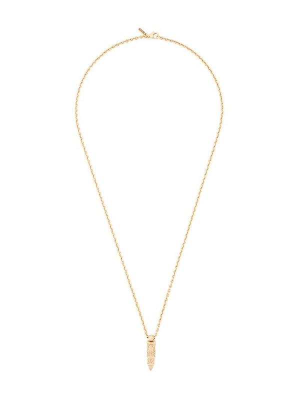 Emanuele Bicocchi Bullet pendant necklace in gold