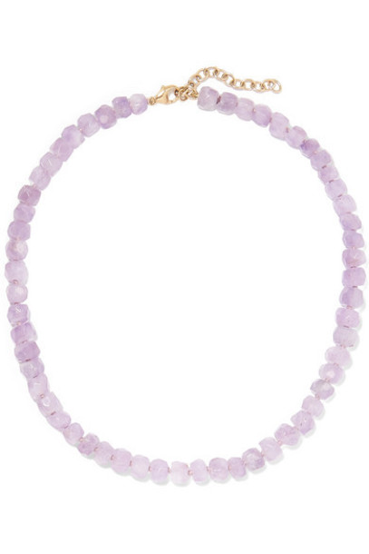 Harris Zhu - 14-karat Gold And Amethyst Necklace - Purple