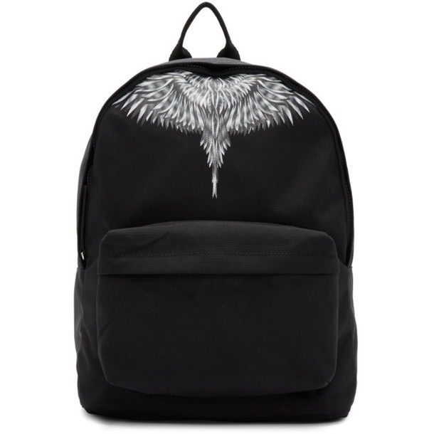 Marcelo Burlon County of Milan Black and Grey Sharp Wings Backpack