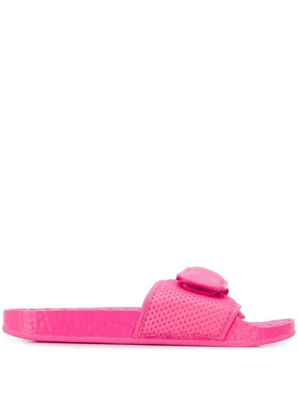 adidas by Pharrell Williams Boost sole pool slides in pink