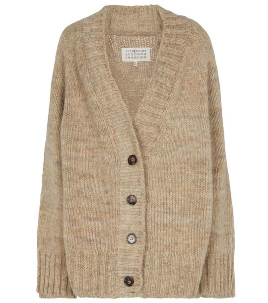 Maison Margiela Chunky-knit cardigan in beige