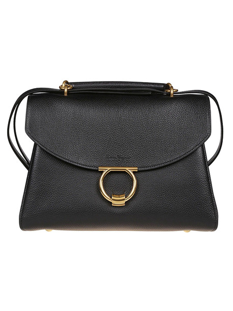 Salvatore Ferragamo Foldover Shoulder Bag in nero