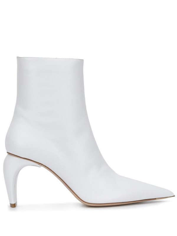 MISBHV sculpted heel ankle boots in white