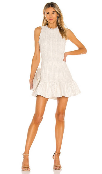 LIKELY Toni Dress in White in ivory / multi