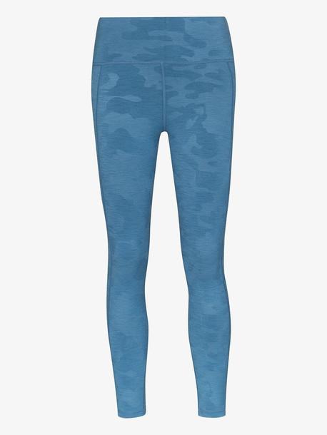 Sweaty Betty Super Sculpt cropped leggings in blue
