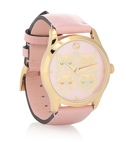 Gucci G-Timeless 38mm leather watch in pink