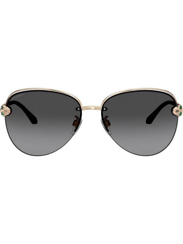 Bvlgari aviator sunglasses in gold