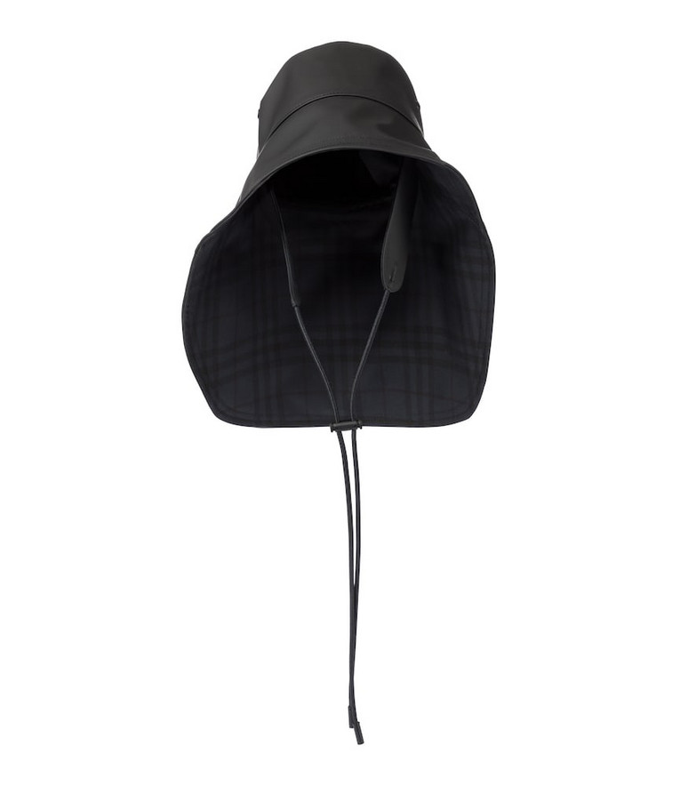 Burberry Rubberized cotton-blend hat in black