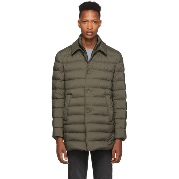 Herno Brown Down 'L'imperméable' Coat