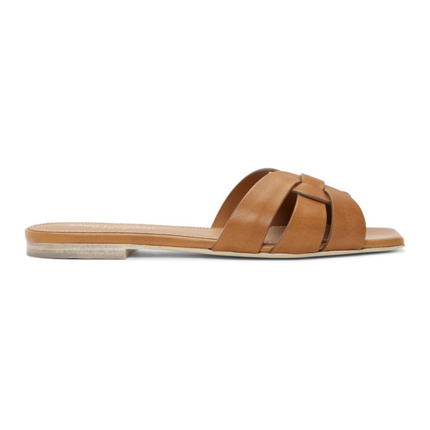 Saint Laurent Brown Nu Pieds Tribute Sandals