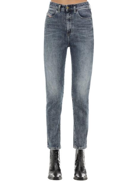 DIESEL D-eiselle Cotton Denim Straight Jeans in blue