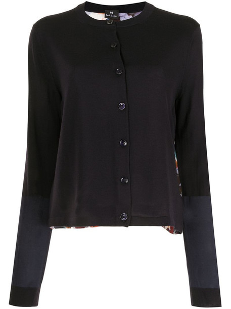 PS Paul Smith Marble Floral panel cardigan in blue