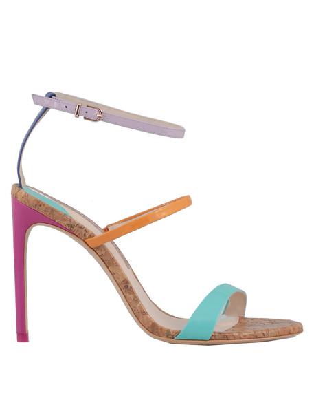 Sophia Webster Rosalind Sandal in metallic / fuchsia / multi