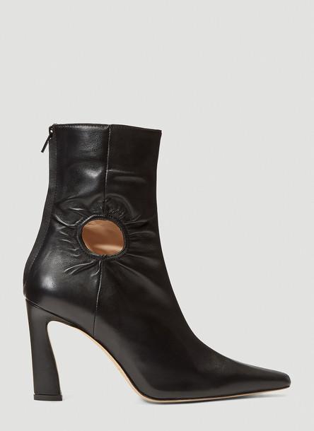 Kalda Cut-Out Boots in Black size EU - 36