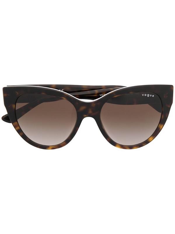 Vogue Eyewear cat-eye tortoiseshell sunglasses in brown