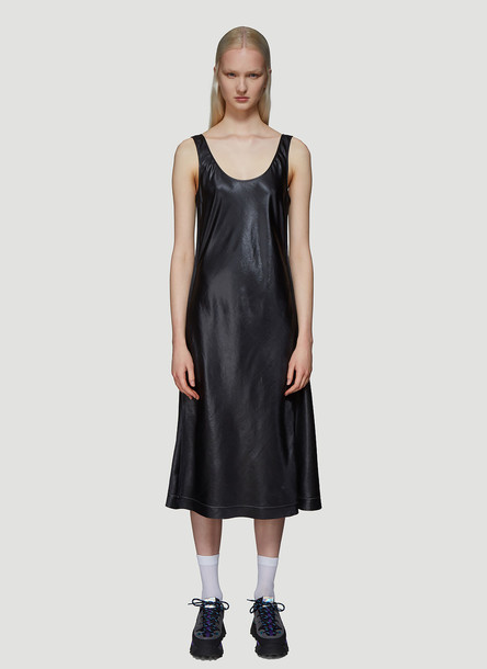 Acne Studios Satin Midi Dress in Black size FR - 38