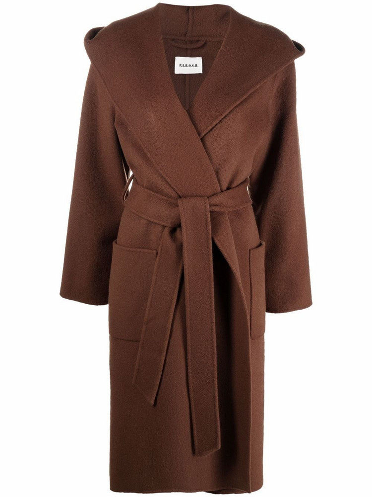 P.A.R.O.S.H. P.A.R.O.S.H. mid-length belted wool coat - Brown