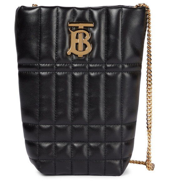 Burberry Lola Micro leather bucket bag in black