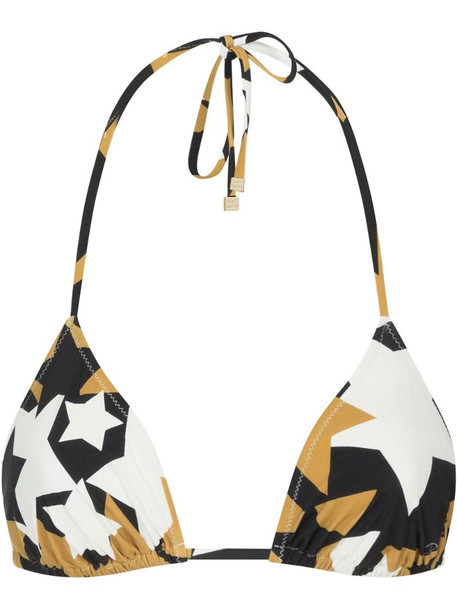 Dolce & Gabbana star print triangle bikini top in black