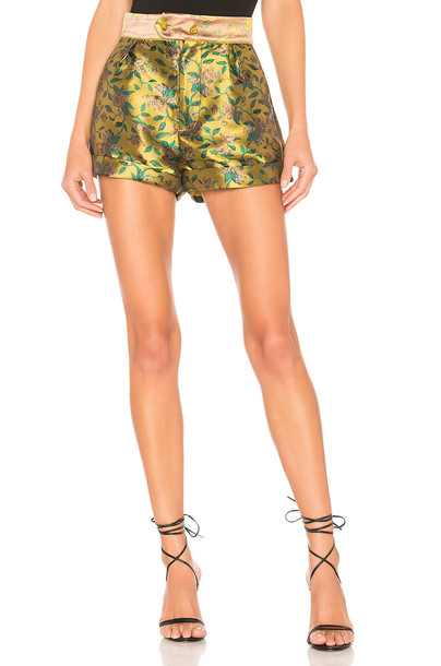 House of Harlow 1960 X REVOLVE Bismark Short in yellow