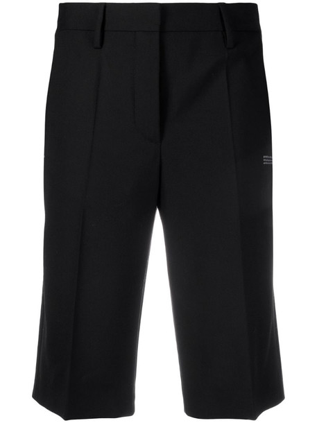 Off-White tailored cut knee-length shorts in black