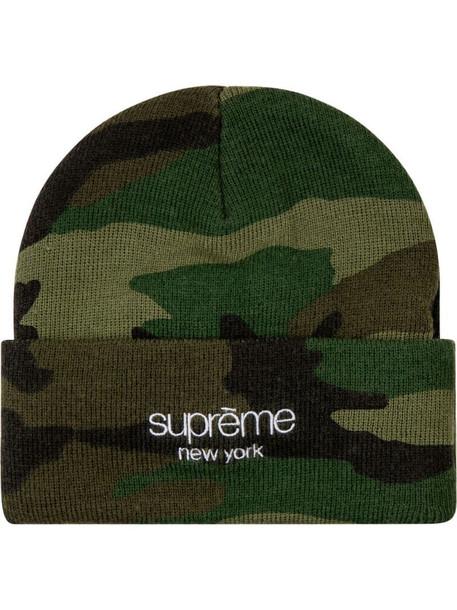 Supreme Radar beanie hat in green