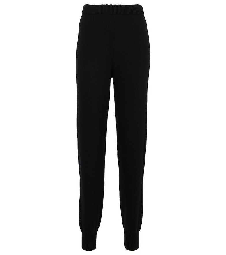 Prada Wool and cashmere sweatpants in black