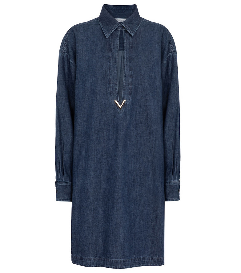 Valentino VGOLD chambray shirt dress in blue