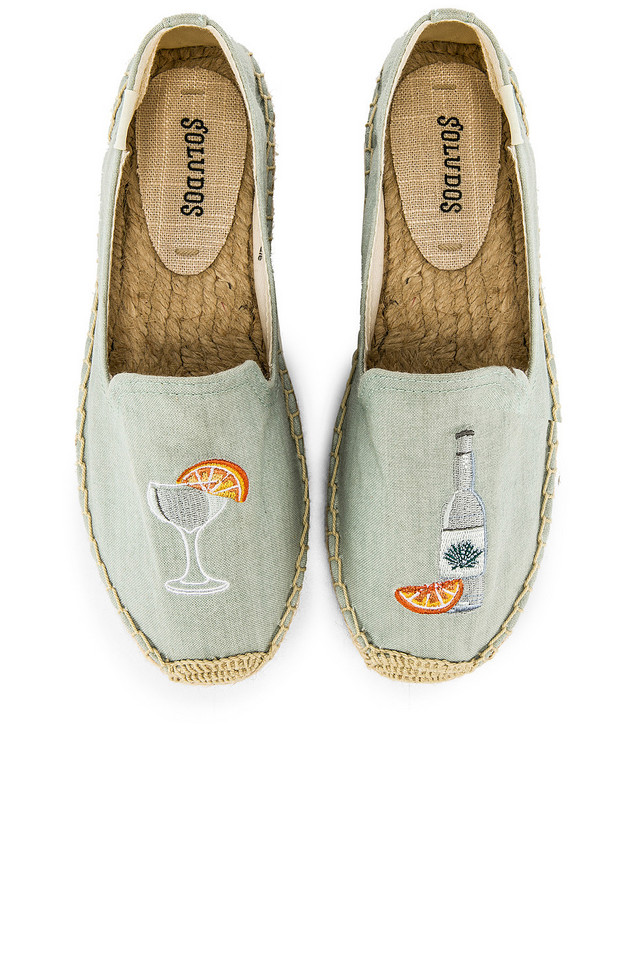 Soludos Agave Smoking Slipper in blue