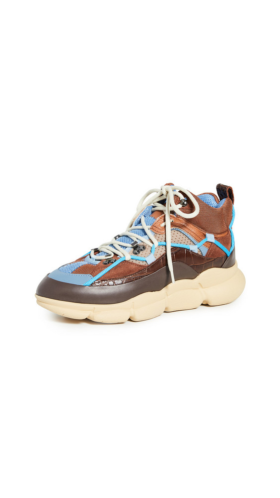 Polly Plume PGT Tech Sneakers in brown
